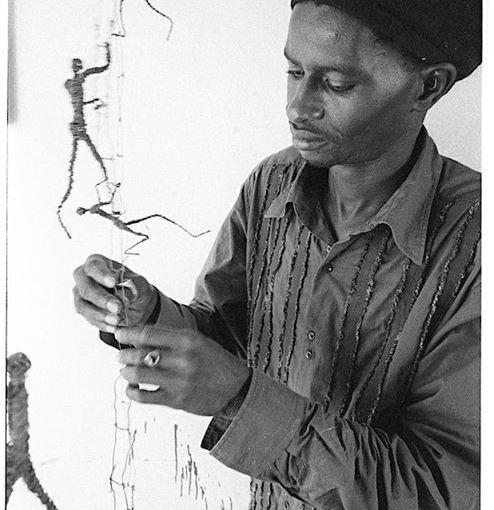 Peinture: Ndary Lô s'en est allé tel ses Hommes qui marchent….