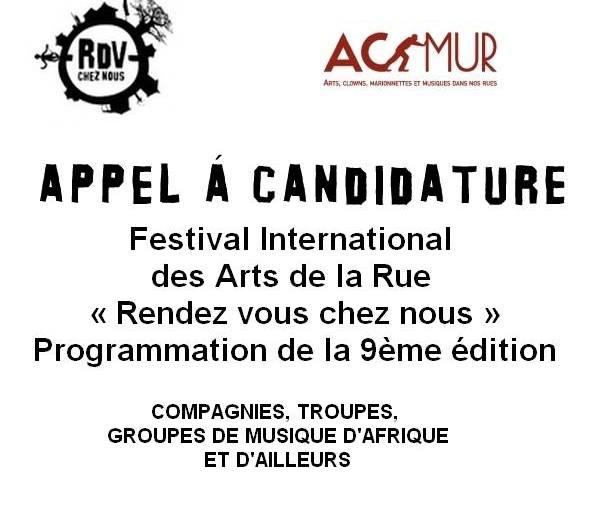 «Rendez-vous chez nous» : Appel à candidatures pour les compagnies, troupes, groupes de musique d'Afrique etd'ailleurs