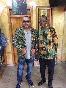 Pathe'O avec le roi Mohamed VI du Maroc