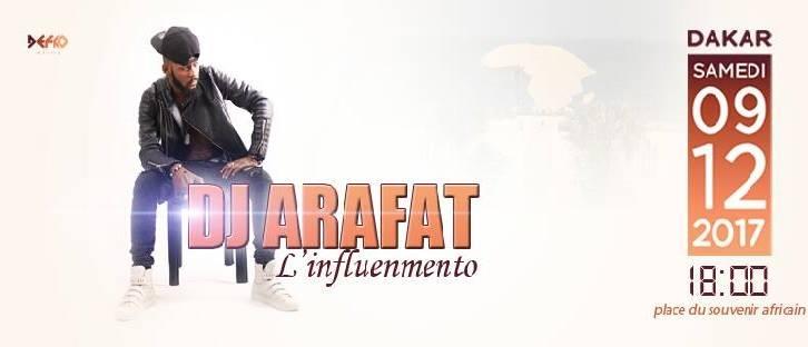 Agenda : Dj Arafat à Dakar le09/12/17