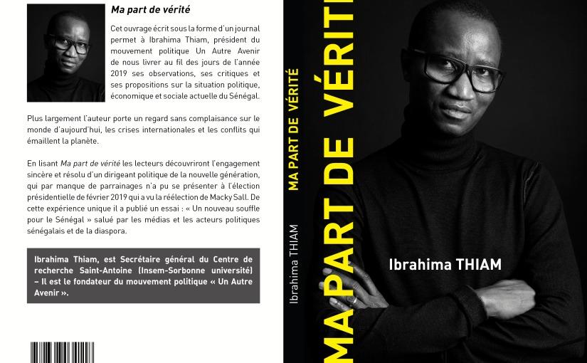 Livre: Ma Part de Vérité par IbrahimaTHIAM